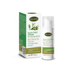 Silky face cream for young skins