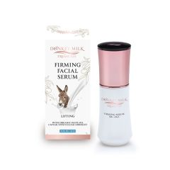 Firming & lifting facial serum gel for all skin types. With 100% Greek donkey milk, COBIOLIFT tightening active, plant stem cells & organic olive oil