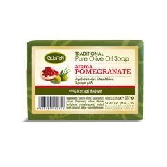 Traditional pure olive oil soap for face and body with Pomegranate aroma | 100gr