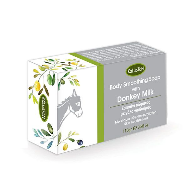 Natural body soap with donkey milk that moisturize the skin, offering immidiate softness