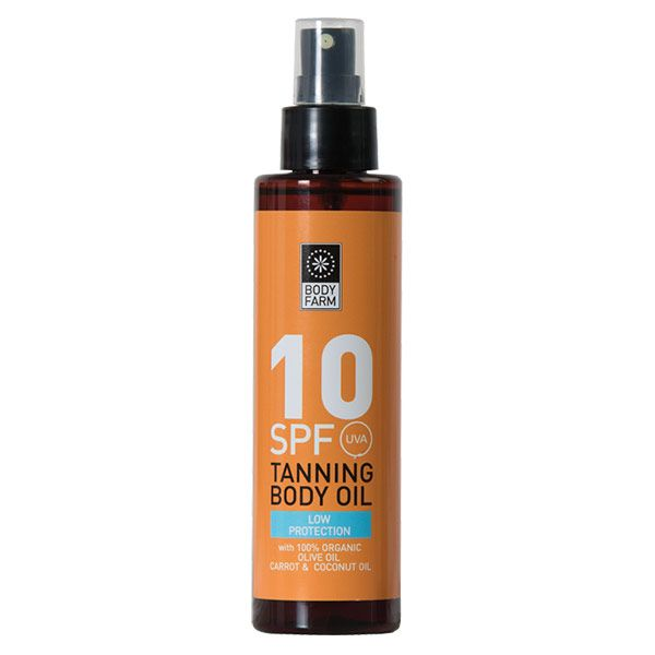 Tanning Body Oil with Carrot, Olive and Sesame SPF 10 150ml