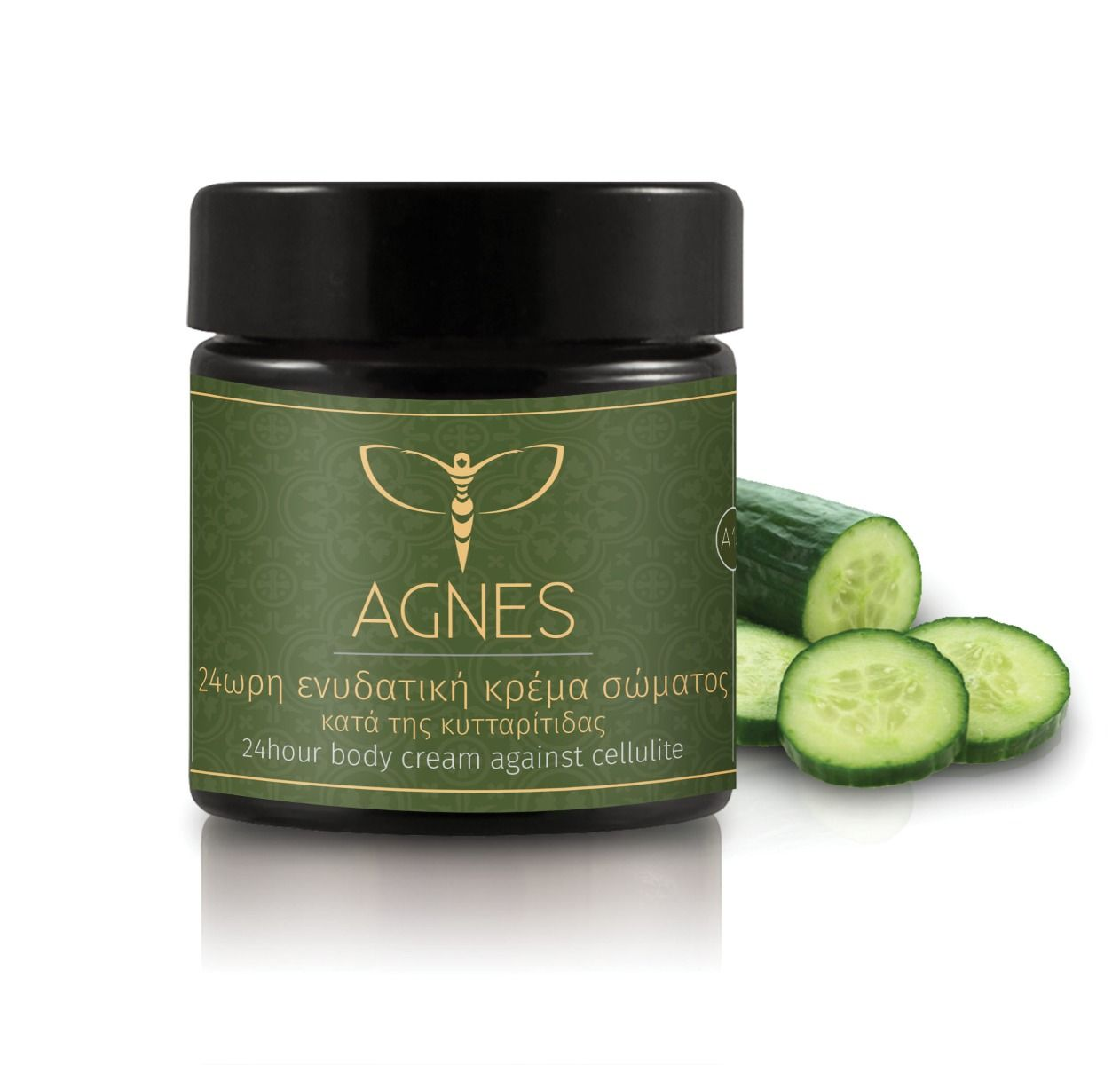 24hour moisturizing body cream against cellulite with ivy oil, calendula extract and fresh cucumber essence