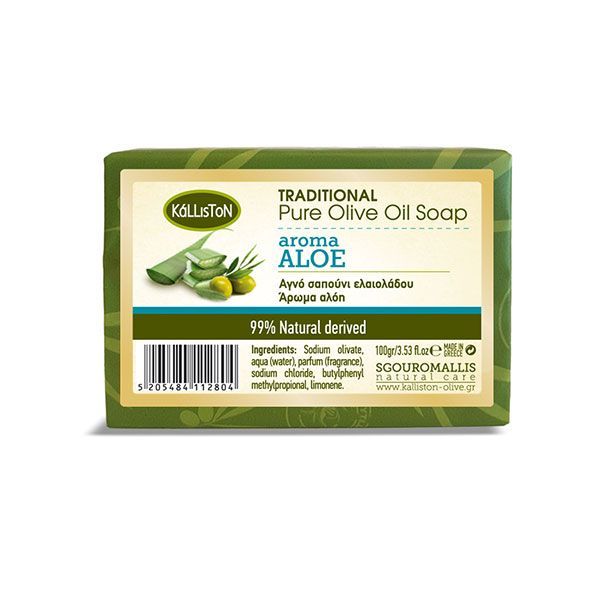 Traditional Pure Olive Oil Soap with Aloe Vera 100gr