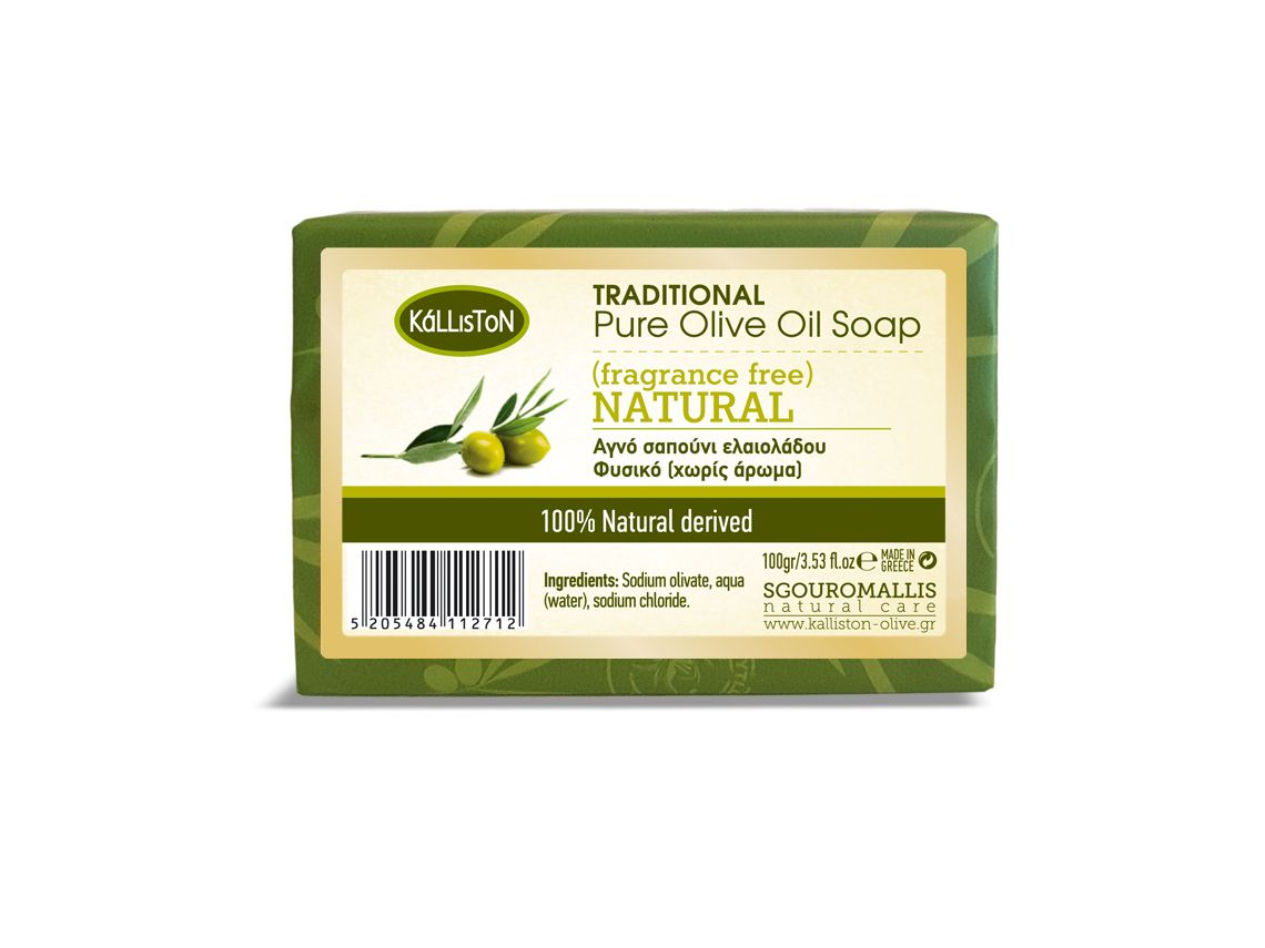 Greek traditional pure olive oil soap for face and body from Kalliston