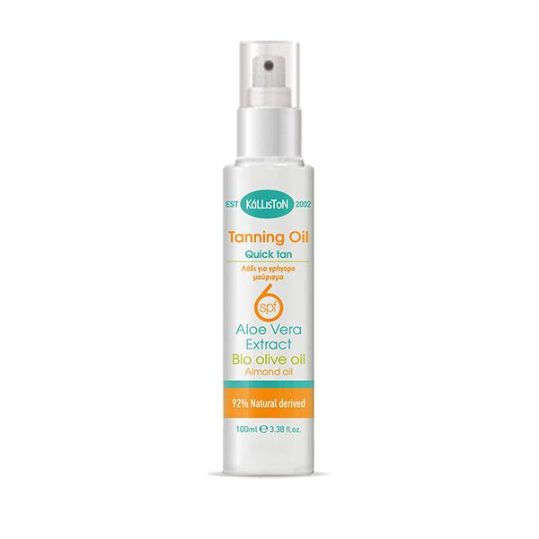 Quick tanning oil with SPF 6 protection from the sunlight, for a deep natural tan | 100 ml