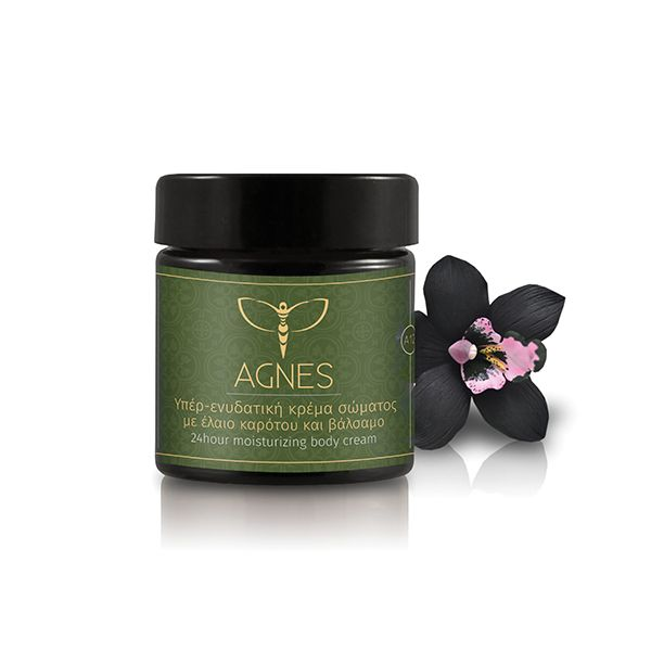24hour moisturizing body cream with natural apiculture ingredients, oils and Cretan herbs
