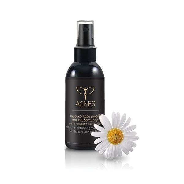 Natural moisturizing massage oil for face and  body with grape, almond, sunflower, balsam and chamomile oil