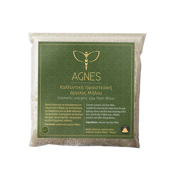 Cosmetic volcanic clay from Milos for a deep clean and detox of the skin