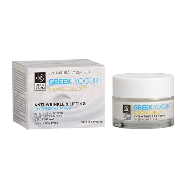 Anti-wrinkle & lifting overnight mask with yogurt & royal jelly offers rich nutrition and deep hydration, while helping in the reduction of wrinkles